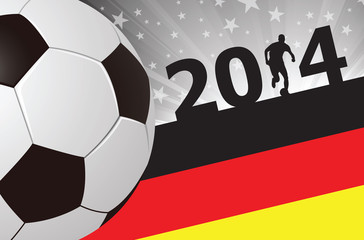 Soccer Player Background Germany 2014