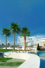 Luxusanwesen / Luxusvilla mit Pool und großem Garten