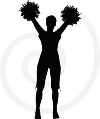 funky cheerleader silhouette