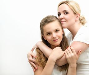 Портрет мамы с дочерью