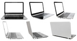 set of laptops with cut out screens
