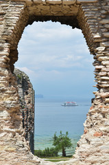 Archaeological excavations in Sirmione,Italy