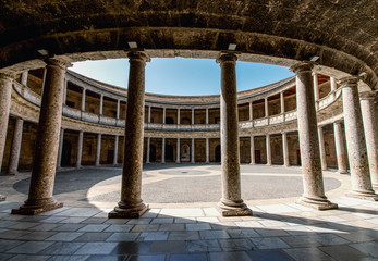 Alhambra de Granada. Court of the Carlos V palace