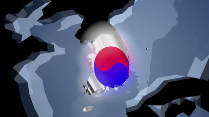South Korea Earth Zoom