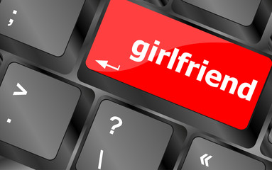 girlfriend button on computer pc keyboard key