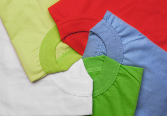 bright colorful t-shirt creative background,