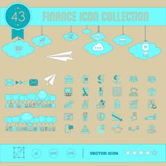 conjunto de iconos para web financieros