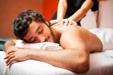 Fototapety Man having a massage