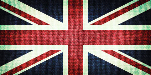 Grunge Great Britain flag. Detailed fabric texture