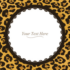 Leopard Spotted Round Frame
