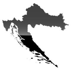 High detailed vector map - Croatia.