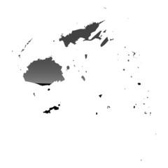 High detailed vector map - Fiji.