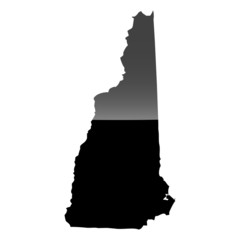 High detailed vector map - New Hampshire.