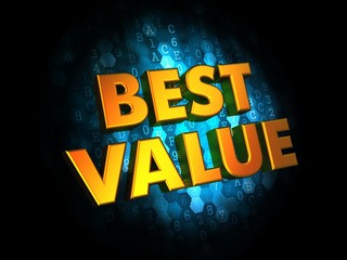 Best Value - Gold 3D Words.