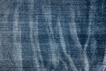 Jeans Texture - wrinkled and discolored