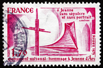 Postage stamp France 1979 Joan of Arc Monument, Rouen