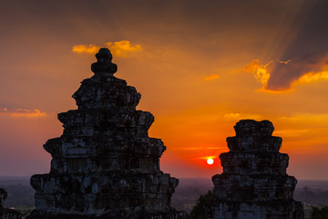 Sunset of Phnom Bakhenges