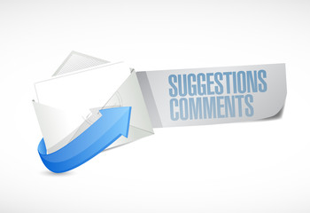 comments and suggestions email sign illustration