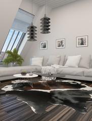 Comfortable modern living room interior