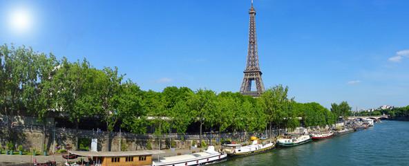 Paysage parisien au printemps