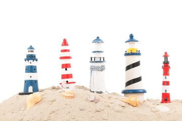 lighthouses at the beach