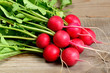 ������, ������: Radishes on wooden background