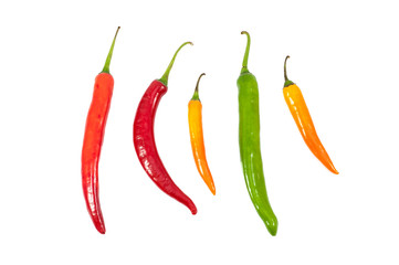 Colorful hot chilli