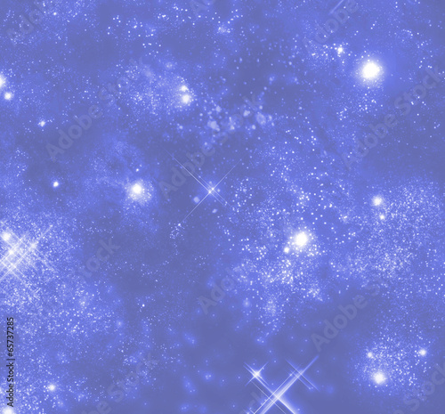 star field with stars and galaxies
