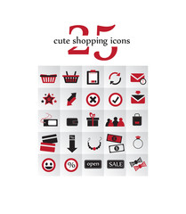 25 Cute Shopping Icons