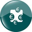 web sign icon. Euro eur symbol. Modern UI website button