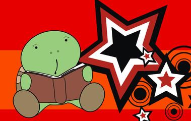 turtle baby cartoon reading wallpaper4