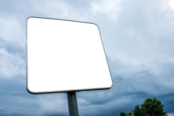 White blank billboard