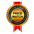 Price Match Guarantee Gold Label Sign Template Vector Illustrati - 65740831