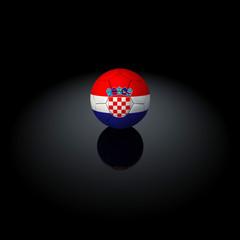 Croazia - Pallone con bandiera su sfondo nero