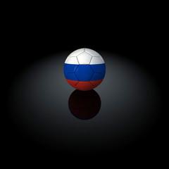 Russia - Pallone con bandiera su sfondo nero