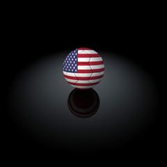 USA - Pallone con bandiera su sfondo nero