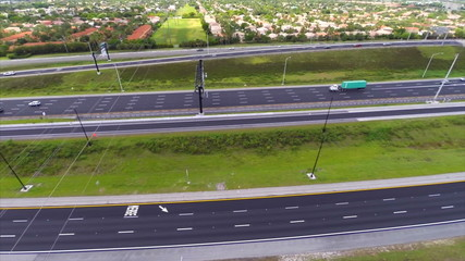 Aerial video of a highway