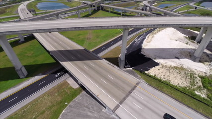 Highway overpass aerial video