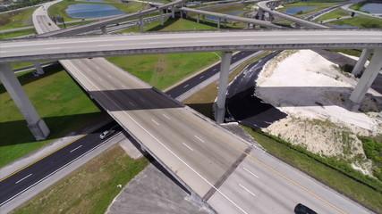 Highway overpass aerial video