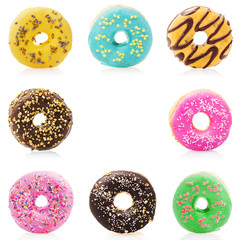 Donuts isolated on white background