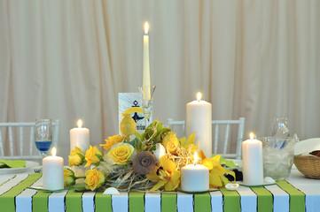 wedding candle table arrangement