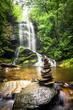 Leinwanddruck Bild - Upper Catabwa Falls 3