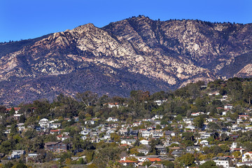 Houses Mountain Santa Barbara California