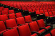 Leinwanddruck Bild - Red Chairs in movie theater