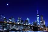 Brooklyn Bridge and Manhattan Skyline At Night, New York City - 65743054