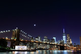 Brooklyn Bridge and Manhattan Skyline At Night, New York City - 65743066