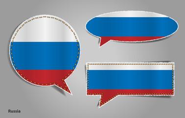 Speech bubble of russian flag, Vector illustration