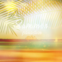 Summer calligraphic design template.