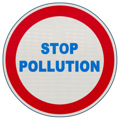 panneau stop pollution
