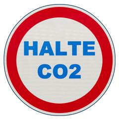panneau halte CO2